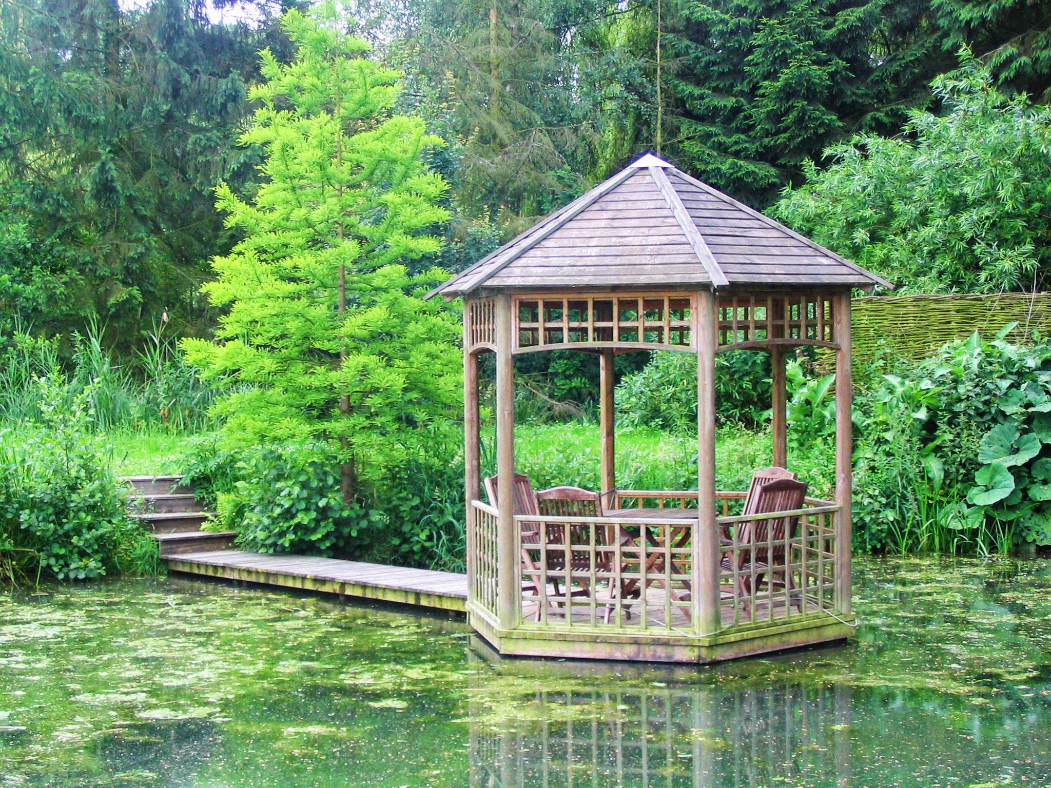 Aquatic design concept et garden jardins aquatiques bassins fontaines tang mat riel - Construction etang de jardin ...